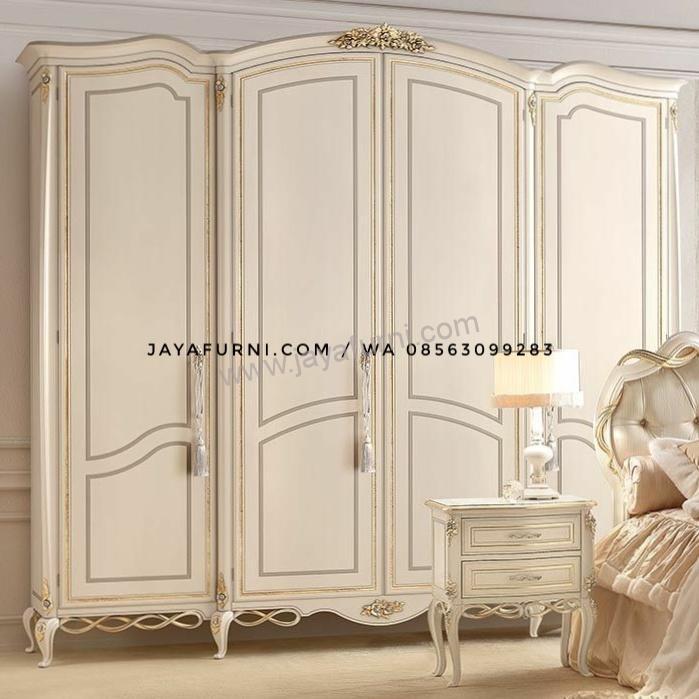 Lemari Pakaian Empat Pintu Duco Klasik