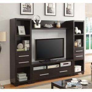 Bufet TV Minimalis Modern Terbaru Brown
