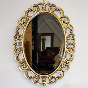 Cermin Hias Ukir Oval
