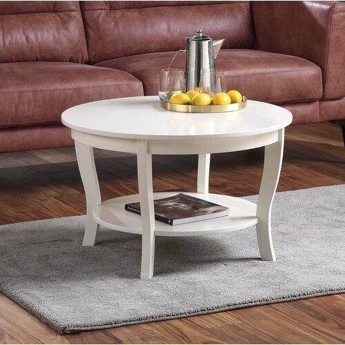 Coffee Table Minimalis Bundar Putih
