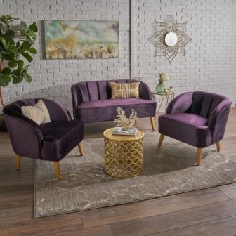 Kursi Tamu Sofa Minimalis Purple
