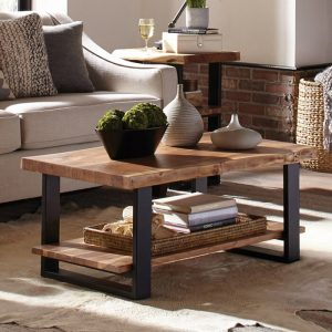 Meja Coffee Table Natural Trembesi