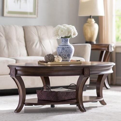 Meja Coffee Table Oval Klasik