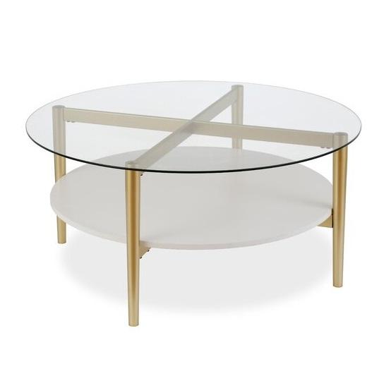 Meja Coffee Table Retro Bulat