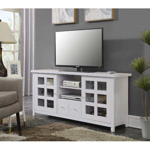 Meja TV Minimalis Modern Putih Shaphamton Murah