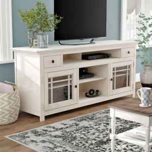 Rak TV Minimalis Putih Orlano Untuk Ruang Tamu