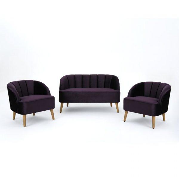Set Kursi Tamu Sofa Minimalis Purple