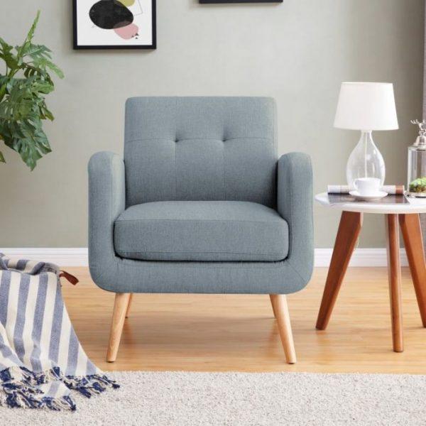 Sofa Ruang Tamu Minimalis Bluely Single Seat