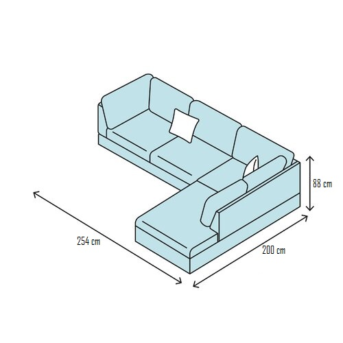 Ukuran Kursi Tamu Sudut Minimalis Sofa Chestra