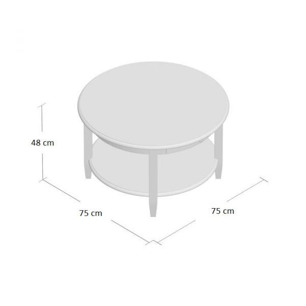 Ukuran Meja Coffee Table Bundar Laci