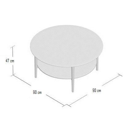 Ukuran Meja Coffee Table Retro Bulat