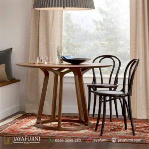 Meja Makan Kayu Bulat 2 Kursi, meja makan informa, meja makan kayu, meja makan kayu jati, meja makan kayu minimalis, meja makan minimalis, meja makan sederhana,