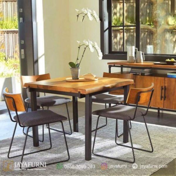 Meja Makan Minimalis Industrial, meja makan informa, meja makan kayu, meja makan kayu jati, meja makan kayu minimalis, meja makan minimalis, meja makan sederhana,
