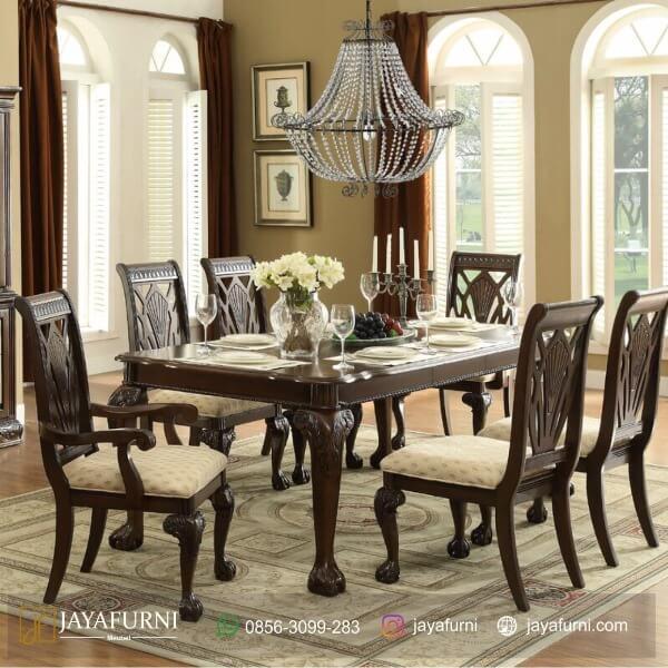 Set Meja Makan Mewah Ukir Jepara, Meja Makan Informa, Meja Makan Kayu, meja makan kayu jati, meja makan kayu minimalis, meja makan minimalis, meja makan sederhana,