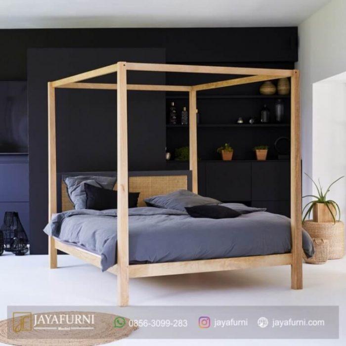 Tempat Tidur Kanopi Jati, tempat tidur tingkat, tempat tidur kayu, tempat tidur minimalis, tempat tidur besi,
